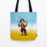 pirate Tote Bags featuring Pirate by Cardvibes.com - Tekenaartje.nl