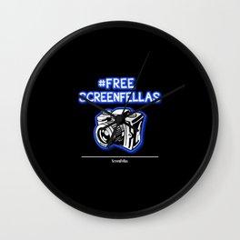 #FreeScreenFellas Wall Clock