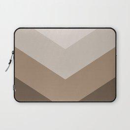 Brown Taupe Chevron Stripes Laptop Sleeve