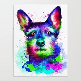 Terrier digital art Poster