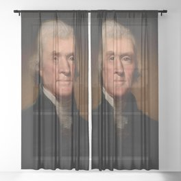 Official Presidential portrait of Thomas Jefferson Sheer Curtain