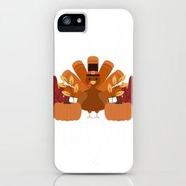 Happy Thanksgiving I Native Turkey Pilgrim iPhone Case
