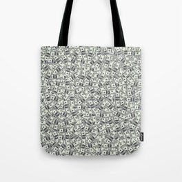 Giant money background 100 dollar bills / 3D render of thousands of 100 dollar bills Tote Bag