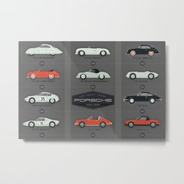 History of the Porsche Sportscar The Early Years Metal Print