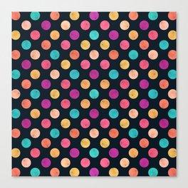 Watercolor Dots Pattern VI Canvas Print