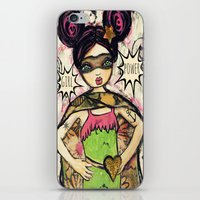 girl power iPhone & iPod Skins featuring Girl Power by Lisa Ferrante