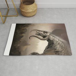 White Dragon King - Lord of the Dragons Rug