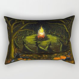 Halloween Bonfire Rectangular Pillow