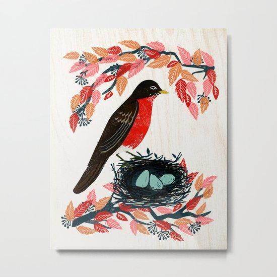 Robin's Nest by Andrea Lauren  Metal Print