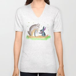 Ohana Means Family Unisex V-Neck