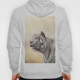 White tiger portrait against sunny background Hoody