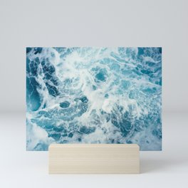 Blue Ocean Waves Mini Art Print