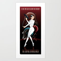 Empire Strikes Back-Leia Art Print