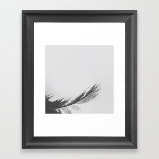 Feathery Framed Art Print