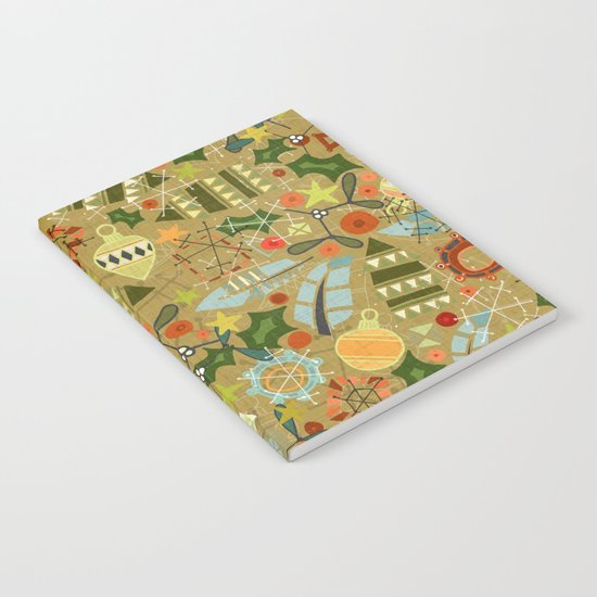 vintage christmas gold Notebook