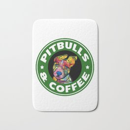 Colourful Pit Bulls, pitbull gift Bath Mat