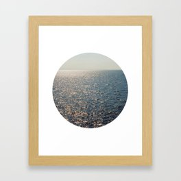 Sparkly Sea Framed Art Print