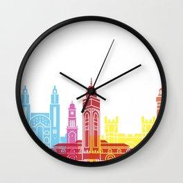 Casablanca skyline pop Wall Clock