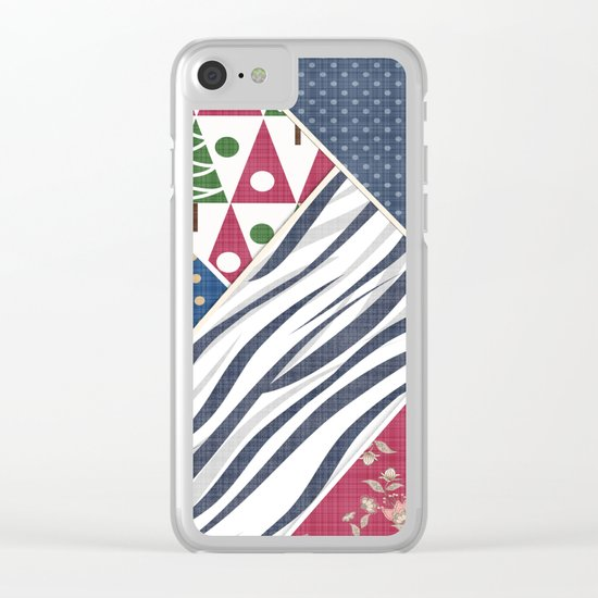 Abstract pattern .Textile patchwork patchwork . Clear iPhone Case