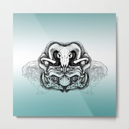 Skull Composition Metal Print