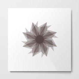 Starburst 2 gray Metal Print