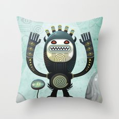Alien Guard Throw Pillow
