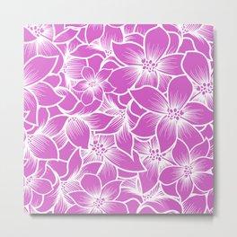 pink orchid flowers Metal Print