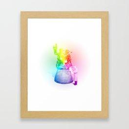 Rainbow Rocket Scientist Framed Art Print