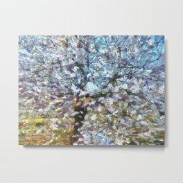 Spring Almond Blossom Metal Print
