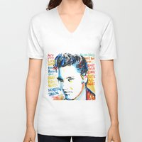elvis V-neck T-shirts featuring Elvis by Phil Fung