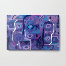 Blue Pozole Metal Print