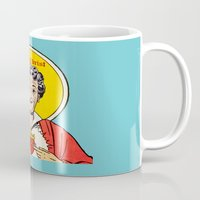 christ Mugs featuring Auntie-Christ by MilkGhost