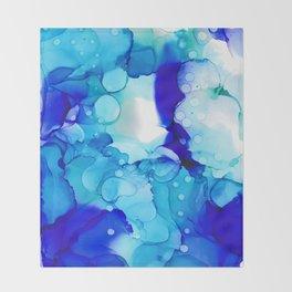 Blue Aqua Throw Blanket