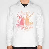 lungs Hoodies featuring lungs by divinerush