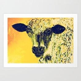 Pastel Sheep Art Print