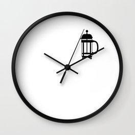 French Press Coffee Fan Gift Idea Wall Clock