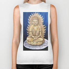 Meditation Buddha Oil Painting Still Life Peaceful Spiritual (Tranquil Space) Biker Tank