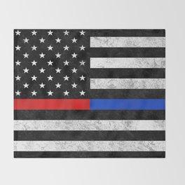 Fire Police Flag Throw Blanket