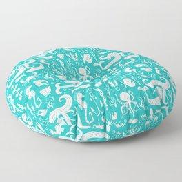 Under The Sea Aqua Floor Pillow