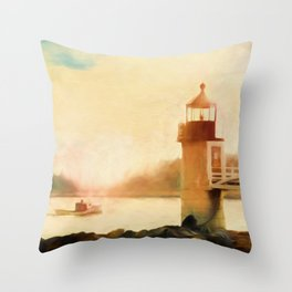 A Day In Maine Throw Pillow