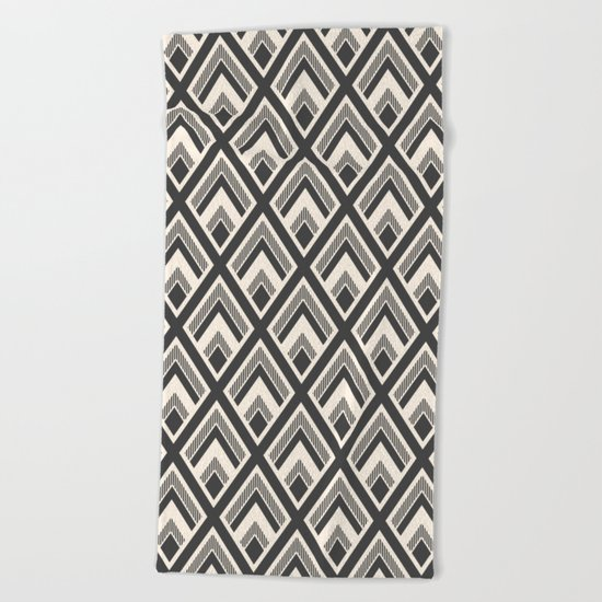 Diamond Pattern Light & Dark Beach Towel