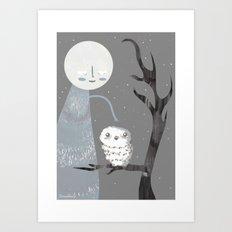 Midnight Companions Art Print