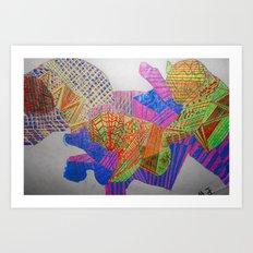 The Sound of Pandas Art Print