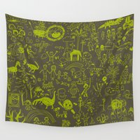 doodle Wall Tapestries featuring Doodle by Sarinya  Withaya