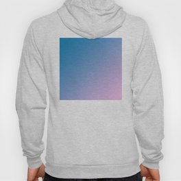 Blue and Soft Light Pink Magenta Gradient Ombré Abstract Hoody