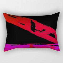 Furious Red Over Calm Magenta Rectangular Pillow