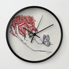 English Rose Wall Clock