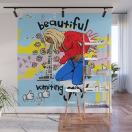 Beautiful Vomiting Girl Wall Mural