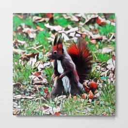 Abert's Squirrel | Painting Metal Print
