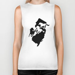 New Jersey State Horse Lover Black Biker Tank